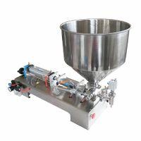 соус-машины оптовых-Полуавтоматическая разливочная машина для бутылок 100-1000 мл для меда / крема / косметики / соуса / зубной пасты 4-60 бутылок в минуту