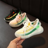 Wholesale luminous shoes children sneakers for sale - Group buy Spring Autumn Children Casual Shoes for Boys Girls Breathable Anti Slip Striped Baby Shoes Luminous Sneakers Kids Soft Shoe