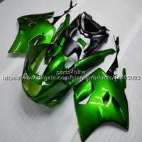 1992 kawasaki ninja verkleidungen großhandel-5Geschenke ABS grüne Verkleidung Für Kawasaki ZX-11 ZZR1100 1990-2001 1991 1992 1993 1994 1995 1996 1997 1998 1999 2000 Body Kit Motorrad Verkleidungen