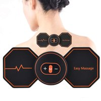 ingrosso ems mini massaggiatore-Mini Massaggiatore elettrico di disegno della farfalla intelligente SME stimolatore muscolare posteriore cervicale Massaggio Back Pain Relief Health Care