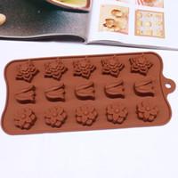 molde de tulipán al por mayor-A estrenar Flor de tulipán en forma de molde de chocolate Herramientas de pastel Molde de caramelo Utensilios para hornear de silicona Cupcake Cake Topper Molde de fondant de flores