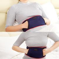 ingrosso supporto della vita di riscaldamento-Riscaldamento elettrico vita pad donne periodo lombo-sacrale sollievo dal dolore supporto lombare fasciatura Utero Warmer cintura vita scaldacollo corsetto # 594036