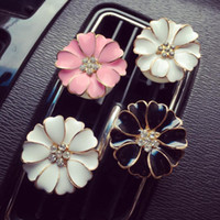 Wholesale lockets bulk resale online - Car Perfume Clip Outlet Locket Clips Flower Auto Air Freshener Conditioning Vent Clip Home Essential Oil Diffuser For Car LXL1131