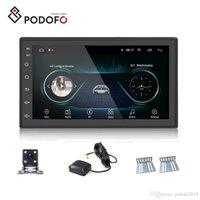 Wholesale glass mp3 player resale online - Podofo Android Car DVD Player Din D Glass quot Touch Screen Car Radio Autoradio GPS Navigation Wifi Bluetooth Mirror Link Rear Camera
