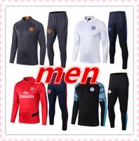 eşofman futbolcu adam toptan satış-Spor Giyimi koşu 2019 2020 yeni erkek futbol antrenman takım eşofman takımı Survêtement de futbol 19 20 erkek futbol eşofman