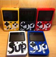 jeux vidéo de poche achat en gros de-SUP Console de jeu portable mini console rétro pour console de jeu vidéo pouvant stocker 400 jeux 8 bits 3,0 pouces LCD coloré berceau design
