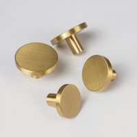 Wholesale handles kitchen cabinet doors resale online - furniture knob solid brass handles for furniture wardrobe cabinet doors Kitchen Drawer Cabinet Pull Handle with screws
