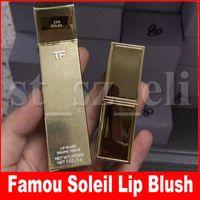 цвет бальзама для губ оптовых-Знаменитая косметика для губ с измененным цветом Бальзам для губ Soleil Румяна для губ Baume Teinte 3g TF 24K Gold Tube