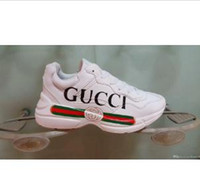 6e305c06db540 2019 Yeni Lüks G spor Ayakkabı Sneakers Beyaz Siyah Erkek Kadın Düşük Lace  up Casual Açık Zapatillas Marka Eğitmenler 36-44