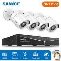 dvr vision nocturne en plein air achat en gros de-Système de caméra de sécurité IR extérieur 1500TVL SANNCE 1080P HDMI 8CH DVR Vision nocturne IR