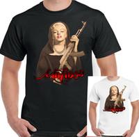 marilyn monroe arte venda por atacado-Mafioso Mens Engraçado Marilyn Monroe T-Shirt Mafia Munroe AK47 Pop Art Top JFK