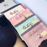 tasarımcı tespih şal toptan satış-Tasarımcı eşarp klasik ekose ipliği boyalı eşarp moda erkek ve kadın şal yüksek kaliteli nakış marka şal
