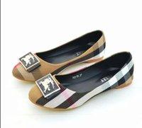 ein flacher bodenschuh großhandel-2019 sommer Neue Stil Einzelnen Schuh Damen Modische Karree Bohnen Bohnen Boden Flache Ferse Schuhe Designer Schuhe