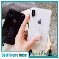 скобка скрыта оптовых-Прозрачный чехол для телефона мягкий TPU ультратонкий гибридный броня чехлы Kickstand кольцо скрытый кронштейн для Iphone 8 7 6 S 6 XS XR MAX X
