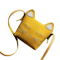 кошельки новизны подарочные пакеты оптовых-Novelty Kids Girl Cartoon Mini Messenger Bags Lovely Cute Coins Purse Shoulder School Cross Bag Baby Girl Birthday Gift 2018 O6