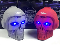 Wholesale skulls mp3 resale online - Wireless Speaker Halloween Skull plug Card Mobile Computer Desktop Subwoofer Speaker Sound Portable speakers Party festival prom