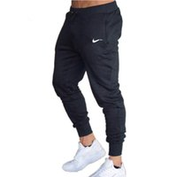 calça de jogger venda por atacado-2018 Outono Marca Gyms Homens Corredores Sweatpants Homens Corredores Calças Roupas Esportivas A alta qualidade Calças De Culturismo