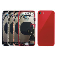 ingrosso telaio per iphone-10pcs completa dell'alloggiamento per IPhone 8 8 Inoltre Torna Medio telaio coperchio batteria sul retro del corpo di copertura con il cavo della flessione Pezzi di montaggio