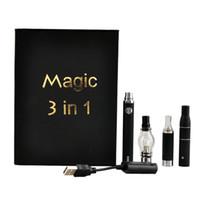 sihirli buharlaştırıcı kalem toptan satış-Sihirli 3 1 Buharlaştırıcı Seti Kuru Ot Balmumu Yağı Atomizer Bir Set 650 mAh 900 mAh 1100 mAh Vape Kalem Başlangıç Kiti