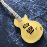 Wholesale guitar factory direct for sale - Group buy Factory direct LP electric guitar guitar with tremolo system maple fingerboard yellow