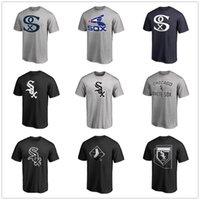 ingrosso disegno del logo di baseball-T-shirt uomo di design Chicago 7 Camicia Tim Anderson Chicago Bianco 10 Yoan Moncada So Maglietta da baseball Ventilatore bianco Sox Tops Logo stampato