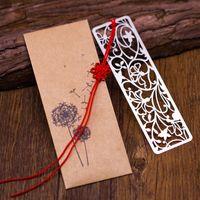 marcadores kawaii al por mayor-1PC linda de la vendimia de la novedad Marcadores Metal hueco marcas de libro para los suministros para niños niñas regalo creativo de Kawaii Papel de la escuela Oficina