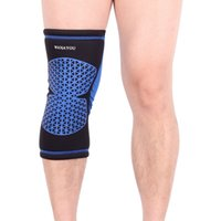 проложенные ножные рукава для баскетбола оптовых-WANAYOU 1 PCS Elastic Basketball Knee Pad For Volleyball Sports Knee Support Brace Leg Sleeve Kneepad
