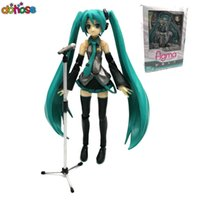 Wholesale vocaloid hatsune miku action figure resale online - Donose New Anime VOCALOID Hatsune Miku Figma PVC action figure Model Doll kids toy