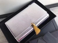 filzkupplung großhandel-TOP Silber Damen Schaffell Clutch Designer Mini Square Bag Star mit der gleichen Bump Hand-Gefühl Messenger Bag Classic Fransen Handtasche