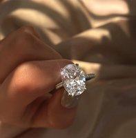 tamanho dos anéis de casamento do noivado venda por atacado-Popular elipse simulado de noivado de diamante anel de casamento anel de festa de casamento para as mulheres dama anel tamanho 5-11
