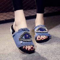 Wholesale flat shoes korean styles online - Korean style Summer Spring Women Shoes fashion Ladies Girls Crystal Flat Sandals Slippers Beach Ladies Shoes chaussures femme