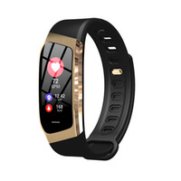 Wholesale drink watch resale online - Creative E18 smart watch color screen heart rate blood pressure sports step counter waterproof drinking water alarm reminder Bluetooth watch