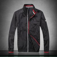 ceket satışı ücretsiz gönderim toptan satış-Kış sonbahar 2019 sıcak satış baskı ceketler erkekler yeni lüks rüzgarlık erkekler yüksek sokak marka erkekler spor ceket mont ücretsiz kargo