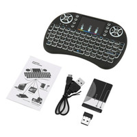 Wholesale mini rechargable battery for sale - Group buy 2 GHz Mini Wireless Remote Keyboard with Touchpad Mouse for Android TV Box Colourful LED Backlight Rechargable Li ion Battery