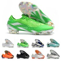 Wholesale lighting football resale online - New Mercurial Superfly VI Elite FG KJ XII CR7 Ronaldo Neymar Men Soccer Shoes High Football Boots Cleats Trainers Size