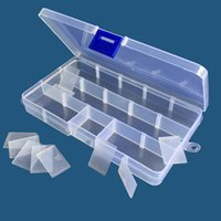 Wholesale transparent storage organizers for sale - Group buy Jewelry storage Adjustable Transparent box home use storage Organizer fifteen grids colorful types Plastic Beads Earring Container QQA291