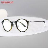 58378c258e4 Acetate B Titanium Eyeglasses Frame Women 2019 Retro Vintage Round Prescription  Glasses Men Optical Spectacles Korea Eyewear