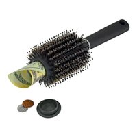 Wholesale jewelry tool storage resale online - Hair Brush comb Hollow Container Black Stash Safe Diversion Secret Security Hairbrush Hidden Valuables Home Security Storage box FFA2468