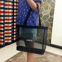 ingrosso cerniera di maglia di maglia-Designer-Classic black shopping mesh Borsa modello lusso borsa da viaggio Borsa da donna Borsa cosmetica per trucco.