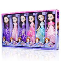 küçük kız oyuncakları toptan satış-25 CM Barbie bebek karışık kız bebek oyuncak 6 stilleri prenses elbise büyük göz kız bebek Küçük kızın doğum günü hediyesi