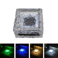 Wholesale lighted brick for sale - Group buy Solar ice brick LED Lights Path Garden Landscape Accent Lighting Cool White Waterproof Outdoor landscape light