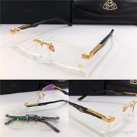ich rahmen großhandel-Fashion Marke MAYBACH Brille DER KÜNSTLER randlos I-Frame große Beine optische Gläser klare Linse einfache Business-Stil für Männer