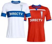 beyaz futbol üniforma toptan satış-Universidad Catolica ev kırmızı Futbol Forması 2019 uzakta beyaz Şili Üniversitesi Futbol Gömlek 19/20 erkekler futbol üst Üniforma Satış