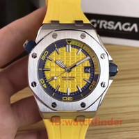 mergulhador de homens venda por atacado-Rose Gold Automático Mecânico Esportes de Luxo Mens Watch Homens ROYAL OAKS Relógios DIVER Relógios de Pulso Orologio Di Lusso Relógios 15703