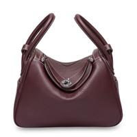 leder doktor art handtasche großhandel-Lindy Style Tasche inspiriert Luxus Geldbörse aus echtem Togo Leder Handtasche Classic Doctors Totes Tasche für Frauen
