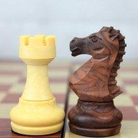 ingrosso scacchi internazionali-Pieghevole in legno Magnetic Chess Wpc Internazionale Calci Set Board Game Divertente gioco scacchi Collection Portable Gioco SH190723