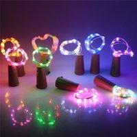 ingrosso illuminazione delle bottiglie di vetro-Bottiglia LED fai da te luci della stringa a forma di sughero del tappo della bottiglia per la festa di Halloween di Natale di vetro chiaro da sposa Home Decor