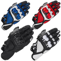 alpiner handschuh großhandel-Alpine S1 Lederhandschuhe Stars Motocross Motorradhandschuh Offroad Outdoor Sports Schutz MTB Gantes Moto Racing Handschuhe Luvas