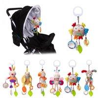 carrinhos para crianças venda por atacado-brinquedos infantis Baby Cartoon Brinquedos 0-12 meses Cama carrinho de bebê Hanging móvel chocalhos recém-nascido de pelúcia para bebés meninas