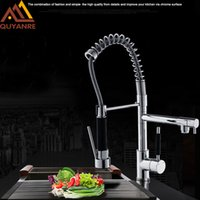 Chrome Brass Spring Kitchen Faucet Swivel Spout Sink Mixer Tap Deck Mount Pull out Faucet